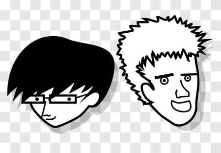 comic duo: Friend kids Illustration