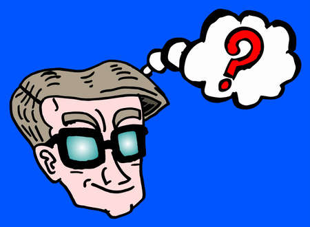 hesitation: Thinker comic Illustration