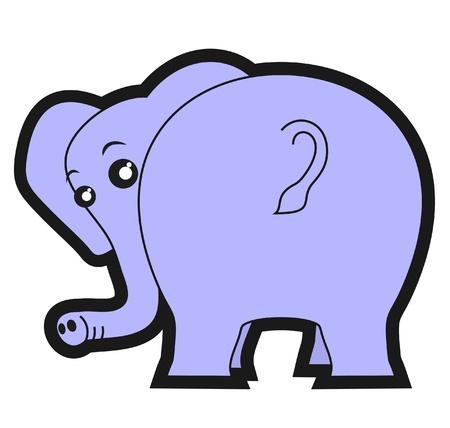 big ass: Funny fat animal Illustration