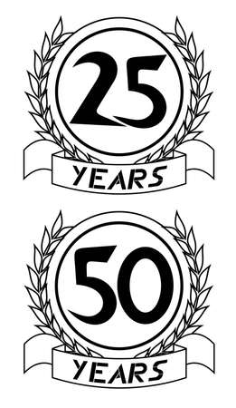 25th: Annual emblem Illustration