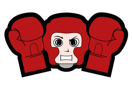 Boxing sparing Vector