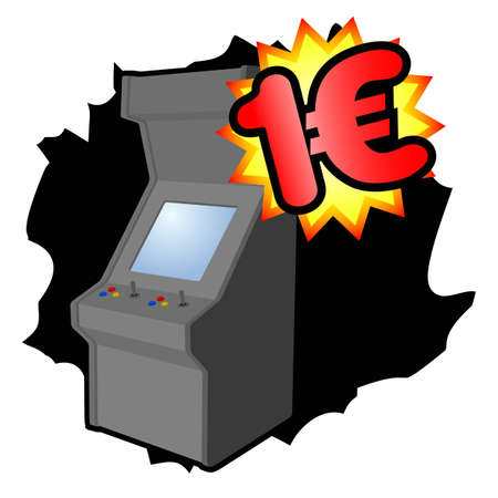 Money video game machine Vector