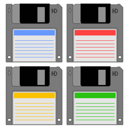 Color diskettes design Stock Vector - 12484345