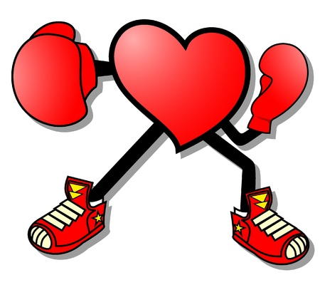 Boxing heart Vector