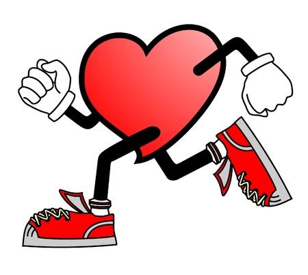 running shoe: Esegui il cuore