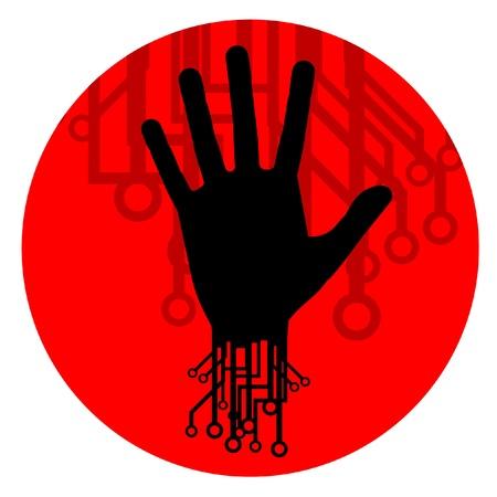 Tech human icon Stock Vector - 12484136