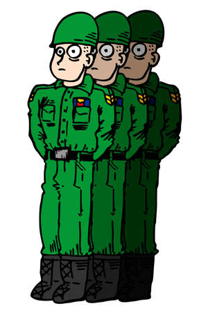 military beret: Army men Illustration