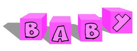 quadrant: Baby cubes Illustration