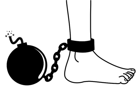 ball and chain: Bomb prisoner