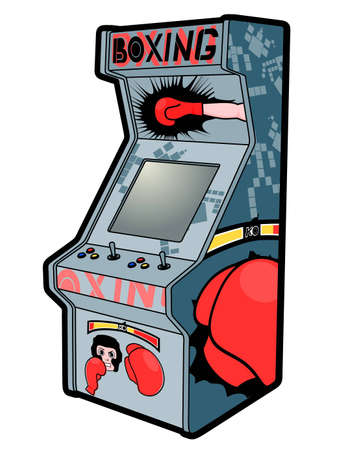 Boxing arcade style Vector