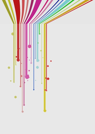 Colorful lines paint Ilustrace