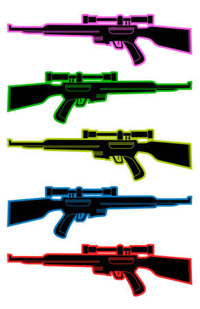 Color snipers Vector