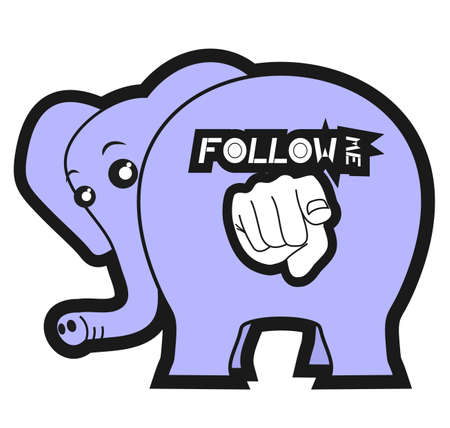 Follow me big animal Stock Vector - 12496416