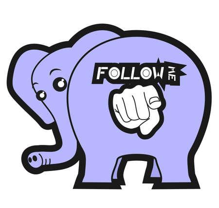 follow the leader: Follow me big animal
