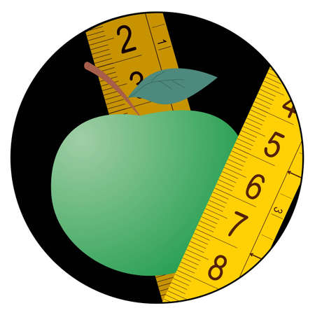 tallness: Nature diet icon Illustration