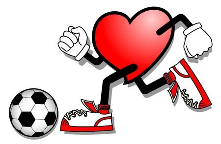 Soccer heart