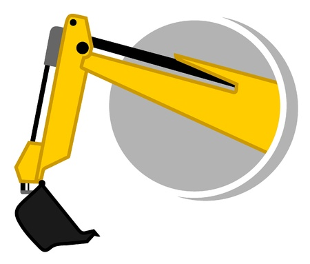 excavator: Build machine Illustration