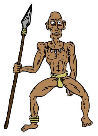 pygmy: Pygmy man Illustration