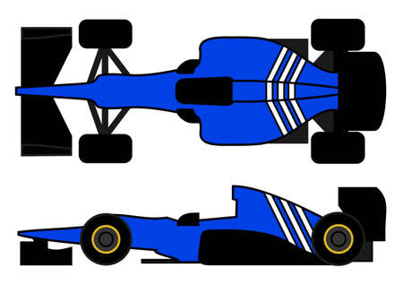 Racing car 2012 style Vector