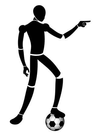 expressive style: Soccer player Illustration