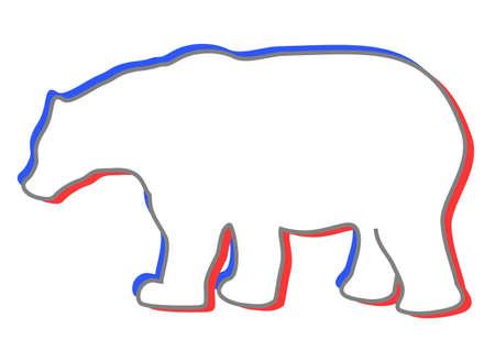 bear silhouette: White bear