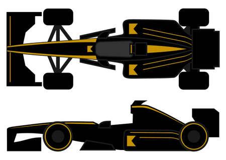 aileron: Elegant racing car Illustration