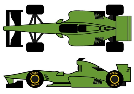 formula one: Sport racing car Illustration