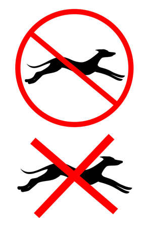 No running dogs Vector