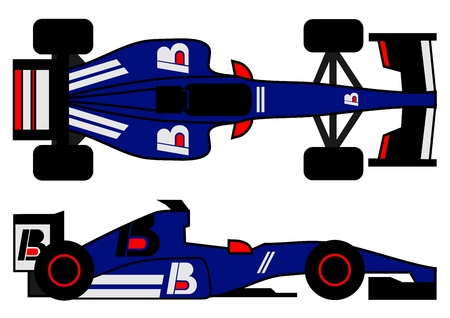 Modern racing car Vector