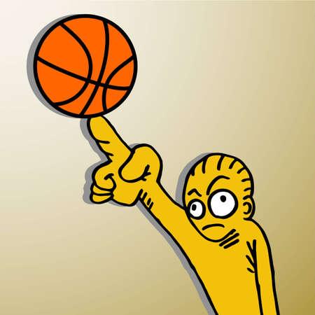 nba: Basket puppet