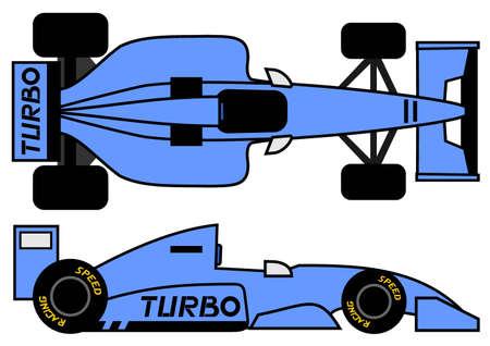 Voiture de sport 1990 de style Vecteurs