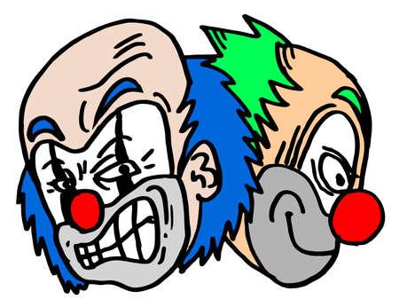 comic duo: Two clowns