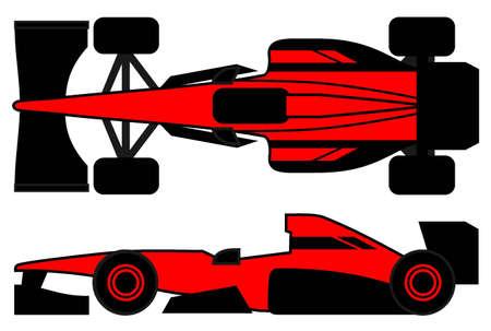 Red racing car Stock Vector - 12811281