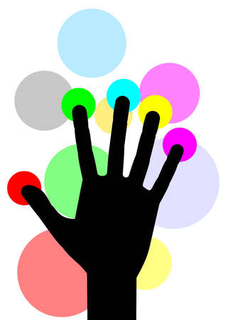 Hand color style Stock Vector - 12811215