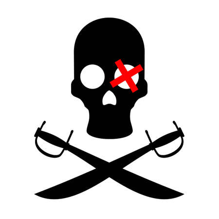 Pirate danger icon Vector