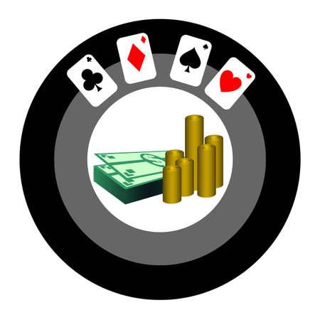 Poker game icon Stock Vector - 12748394