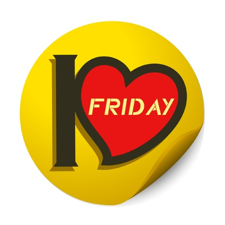 I love friday Ilustrace