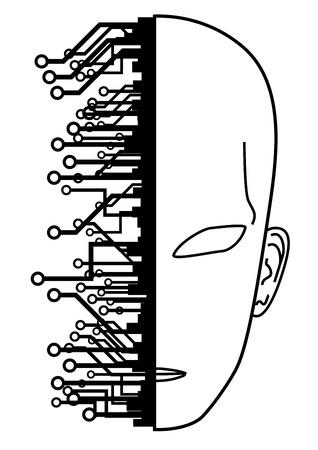 Tech human face Stock Vector - 12748309
