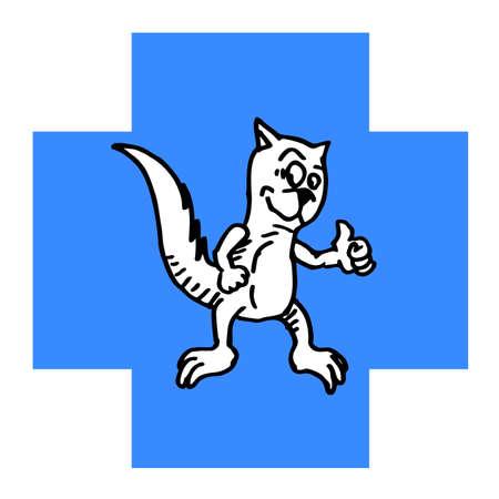 Comedy animal sign Vector