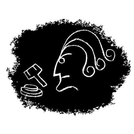 adjudicate: Judge head art Illustration