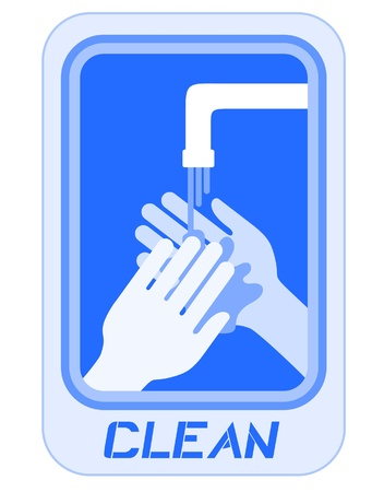 Hand water sign Vector