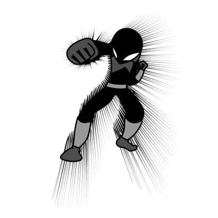 Fighter hero punch Stock Vector - 12748300