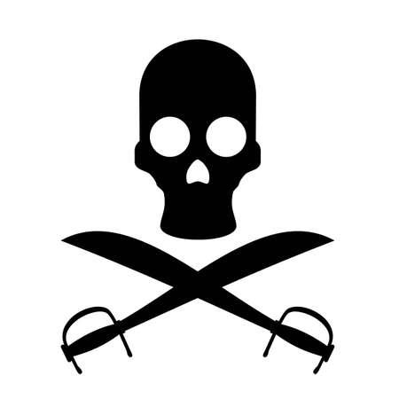Pirate danger sign Illustration
