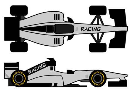 Racing speed car  Vector