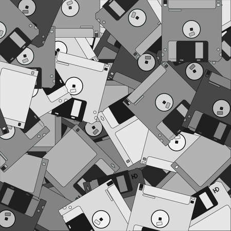 Old diskettes wallpaper Stock Vector - 12748391