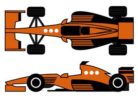 Orange racing car Stock Vector - 12748421