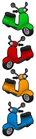 Color motorcycle Illustration