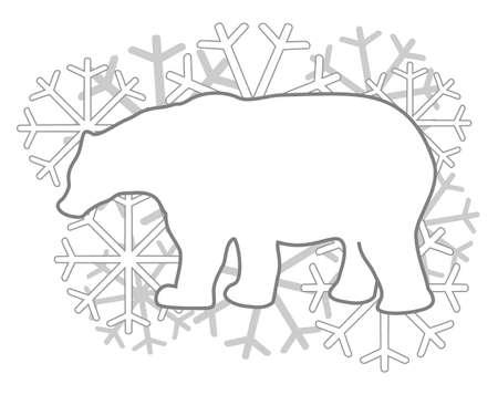 White polar bear Illustration