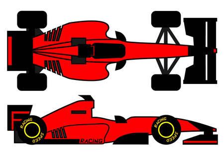 Red modern racing car