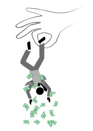 faillite: Pas d'argent Illustration